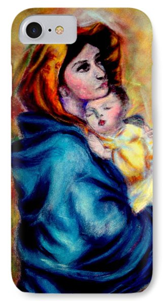 Mondonna Of The Street By Roberto Ferrizzi, Rendition In Pastel Antonia Citrino,  Sold.        IPhone Case