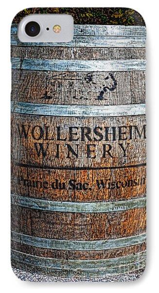 Wisconsin Wine Barrel IPhone Case