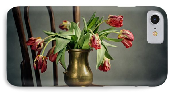 Tulip iPhone 8 Case - Withered Tulips by Nailia Schwarz