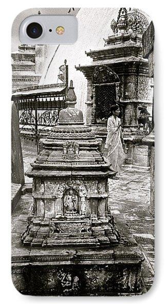 Woman At Swayambhu IPhone Case