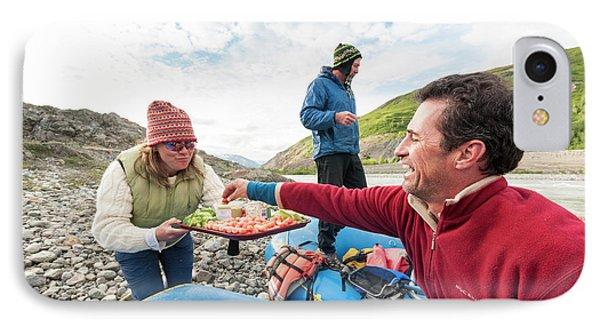 Knit Hat iPhone 8 Case - Woman Serving Appetizers, Alsek River by Josh Miller