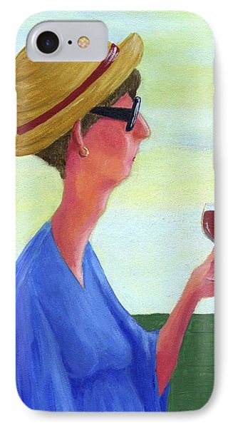 Woman With Wine IPhone Case