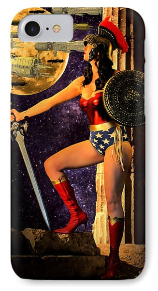 Wonder Warrior Vs Alien Armada  IPhone Case