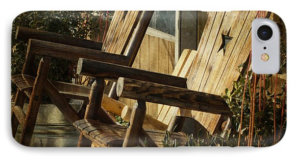 Wooden Chairs IPhone Case