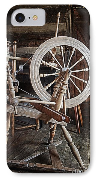 Wooden Spinning Wheel IPhone Case