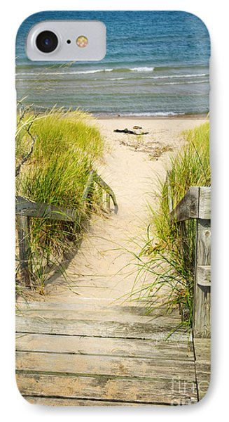 Wooden Stairs Over Dunes At Beach IPhone Case