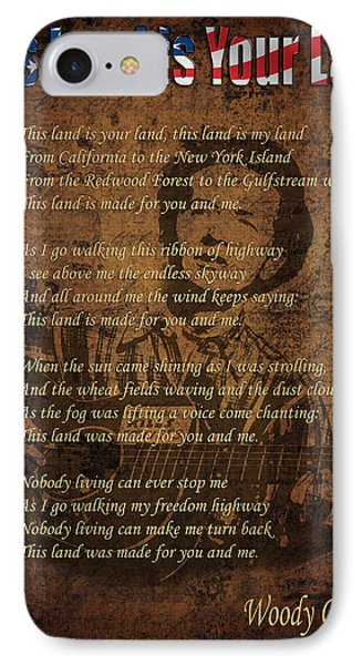 Woody Guthrie 2 IPhone Case