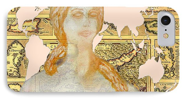 Word Map Of Cyprus And Aphrodite IPhone Case