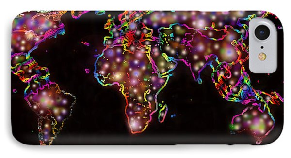 World Map In The Future IPhone Case