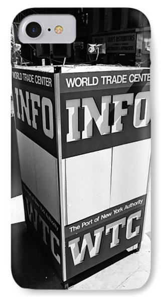 Wtc Info Sign IPhone Case