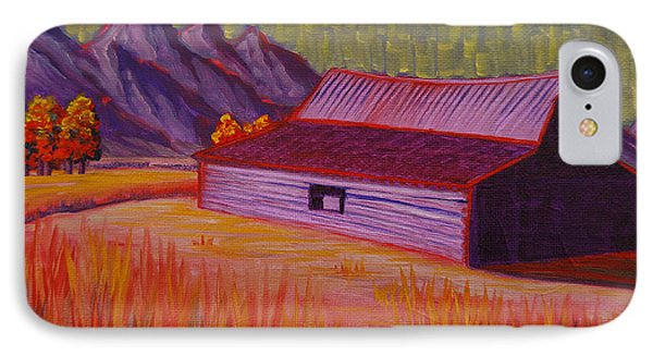 Wyoming Barn In Red IPhone Case