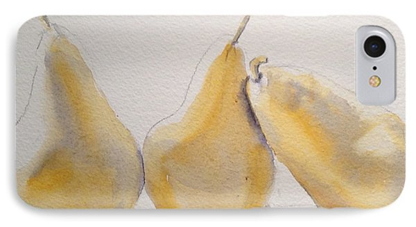 Yellow And Gray Pears IPhone Case