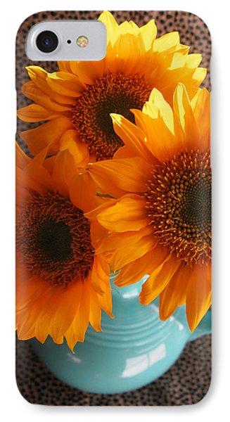 Yellow Flowers In Fiesta Ware IPhone Case