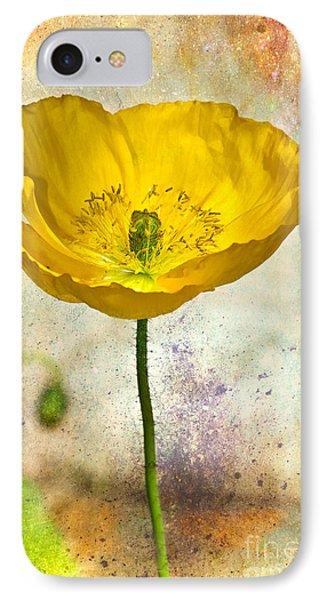 Yellow Icelandic Poppy And Texture IPhone Case