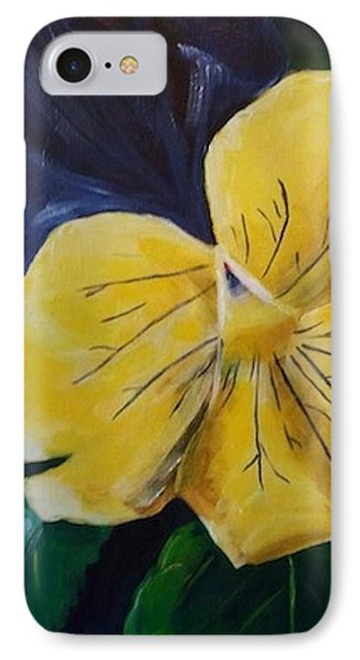 Yellow Pansy IPhone Case