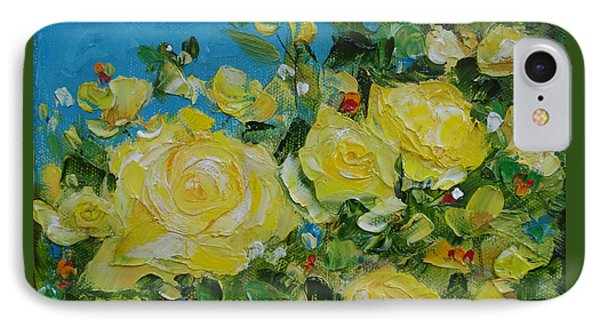 Yellow Roses IPhone Case