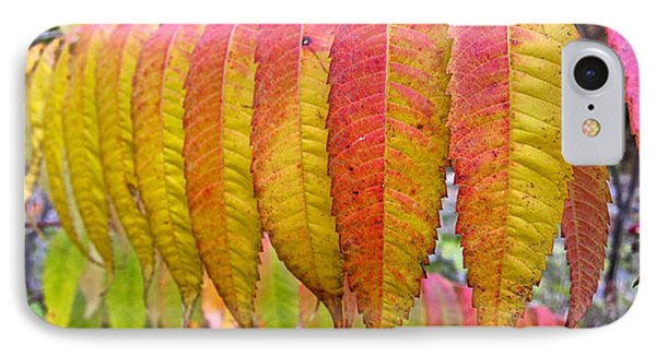 Yellow Sumac Leaves IPhone Case