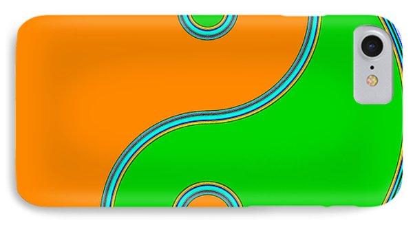 Yin Yang Orange Green Pop Art IPhone Case