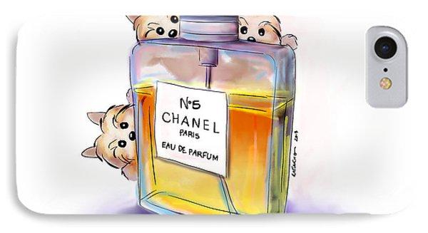 Yorkie Chanel Crazies IPhone Case
