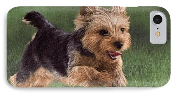 Yorkshire Terrier Painting IPhone Case