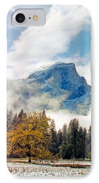 Yosemite Valley  Light Snow IPhone Case