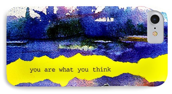 You Are What You Think Collage 2 IPhone Case