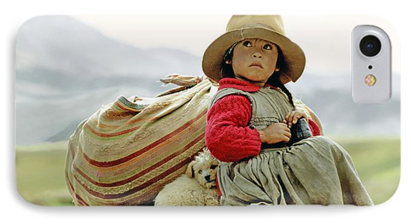 Young Girl In Peru IPhone Case
