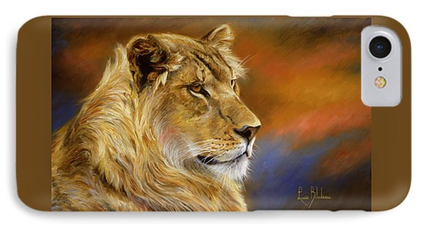 Africa iPhone 8 Case - Young Lion by Lucie Bilodeau