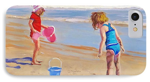 Beach iPhone 8 Case - Yuck by Laura Lee Zanghetti