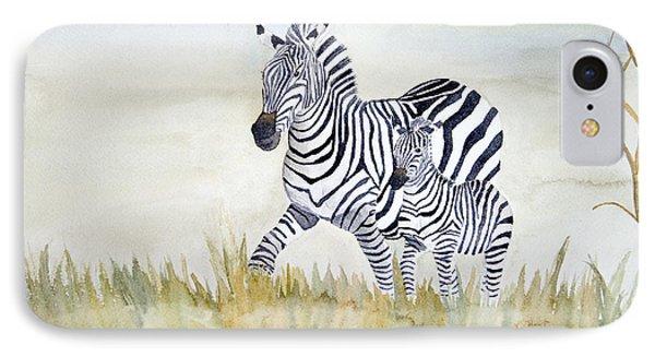 Zebra Family IPhone Case