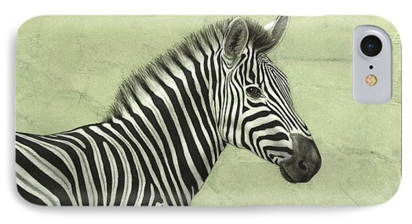 Africa iPhone 8 Case - Zebra by James W Johnson