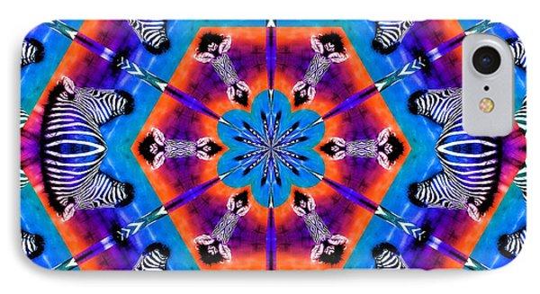 Zebra Kaleidoscope IPhone Case