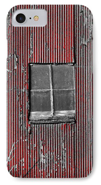 Zink Rd Barn Window Bw Red IPhone Case
