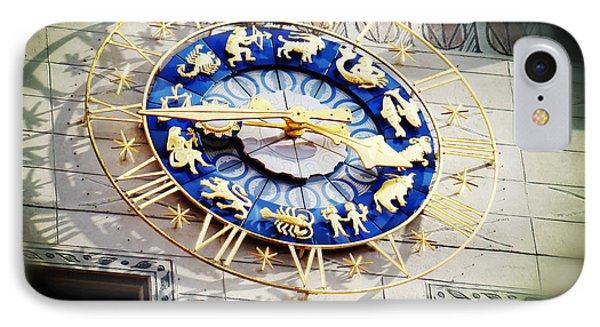 Zodiac Clock In Munich IPhone Case
