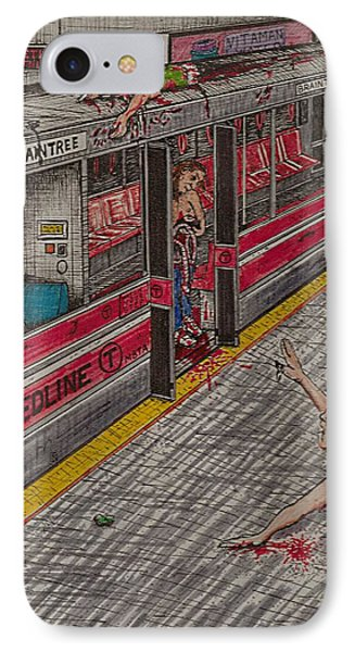 Zombies On The Red Line IPhone Case