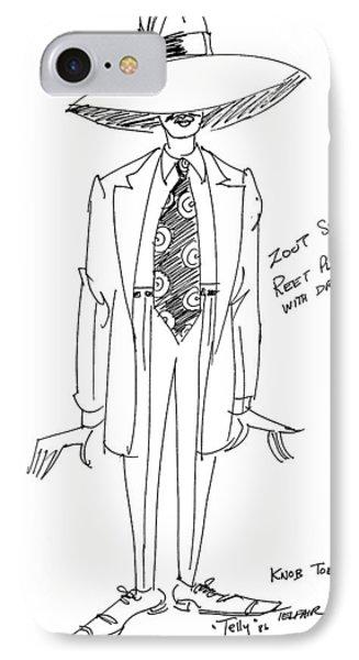 Zoot Suit Illustration 2 IPhone Case