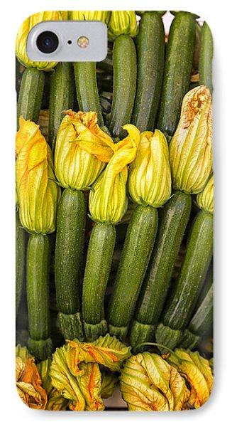 Zucchini Flowers Closeup IPhone Case