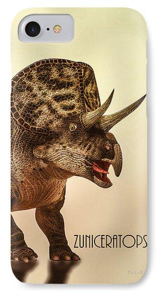 Zuniceratops Dinosaur IPhone Case