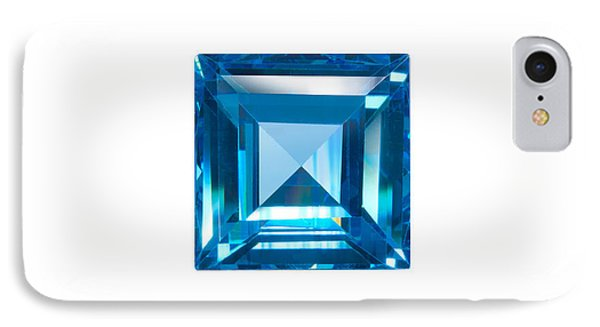 Blue Sapphire Isolated IPhone Case