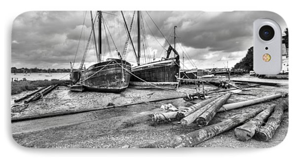 Boats And Logs At Pin Mill  IPhone Case