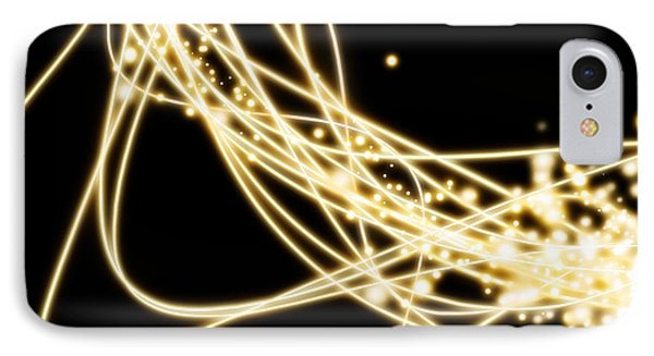 Fluorescence iPhone 8 Case - Electric Lines by Setsiri Silapasuwanchai