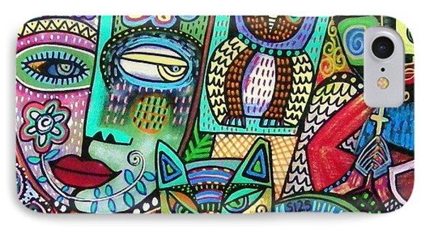 Frida's Garden Owl And Cat IPhone Case