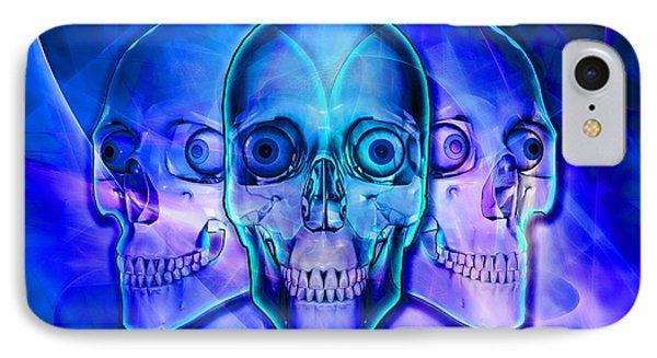 Illuminated Skulls IPhone Case