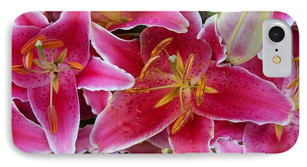 Pink Lilies With Water Droplets IPhone Case