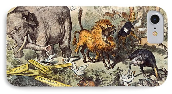 Republican Elephant, 1874 IPhone Case