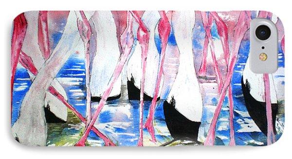 Rift Valley Flamingo Feeding IPhone Case