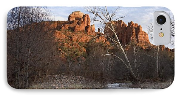 Scenic View Of Red Rock Crossing IPhone Case