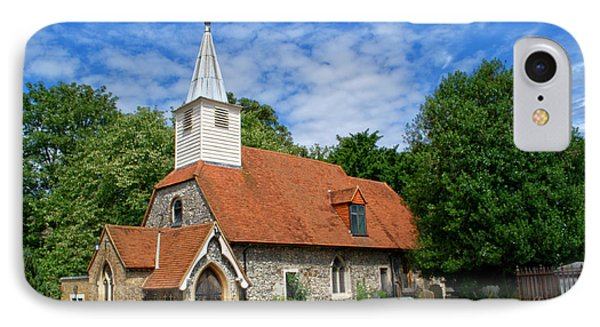 St Laurence Church Cowley Middlesex IPhone Case