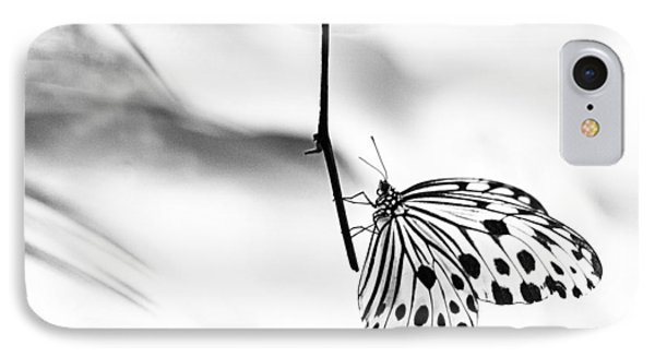 The Paper Kite Butterfly In Black And White IPhone Case
