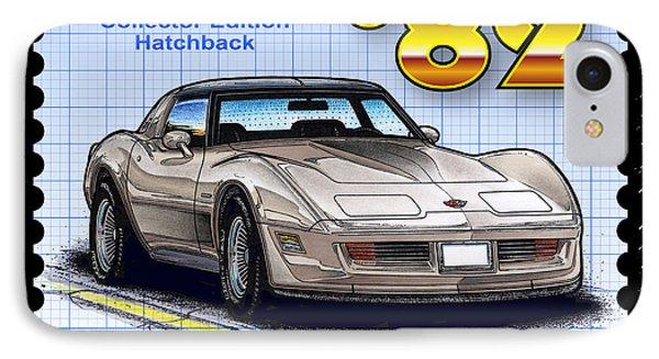 1982 Collector Edition Hatchback Corvette IPhone Case